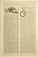 1898 Aufdruck Marine & Armee Artikel Frühe Freiwilliger Fahrrad Erste Treffen