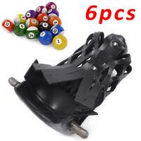 6Pcs Heavy Duty Billiard Webs Pockets Drop Bags PVC Pool Table Pocket 4KG Black