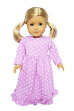 Purple Star Nightgown Fits 18 Inch American Girl Doll Clothes