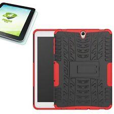 Hybrid Outdoor Tasche Rot für Samsung Galaxy Tab S3 9.7 T820 + 0.4 H9 Hartglas