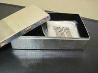 Pottery Barn Eclectic Plaid Jewelry Box Silver Plated Rectangle Large Storage
