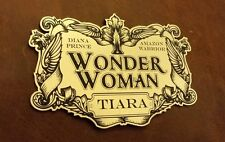 WONDER WOMAN TIARA DISPLAY PLACARD FOR YOUR COSPLAY PROP