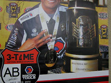 ANTRON BROWN SIGNED 2016 3 X NHRA T/F CHAMP DON SCHUMACHER RACING POSTER 1/300