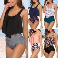 Womens Push Up Padded Bra Bikini Set Bathing Suit Swimwear High Waisted Swimsuit