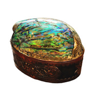 ABALONE Mother of Pearl Box, Jewelry box, Accessories Box Christmas Gift