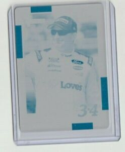 MICHAEL MCDOWELL 2021 DONRUSS RACING PRINTING PLATE SERIAL # 1/1 RETRO 1988