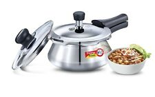 Prestige Stainless Steel Induction Pressure Handi Cooker With Glass Lid 1.5L