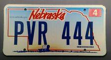 2009 Nebraska Wagon Scene License Plate Tag  #PVR 444