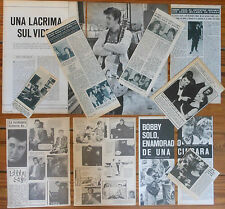 BOBBY SOLO spanish clippings 1960s/70s photos magazine articles