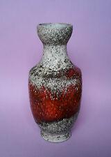 Karlsruher Majolika Keramik Vase 60er Jahre Lava Vintage Design