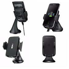 Fast Qi Wireless in Car Charger Transmitter Holder For Samsung Galaxy Phones