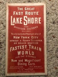 Lake Shore and Michigan Southern Railway Timetable February 1886 Rand McNally