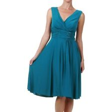 Teal Blue Jersey Cocktail Dress. Racewear Races Dress. Size XXL (AU 16)