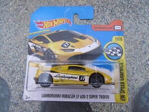 Hot Wheels 2017 #107/365 LAMBORGHINI HURACAN LP 620-2 SUPER TROFEO yellow