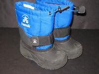 BOYS SIZE 8 Toddler blue & Black kamik WINTER SNOW BOOTS
