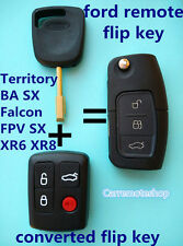 Ford Transponder Remote & Flip Key Suit Model BA Falcon FPV XR6 & SX Territory