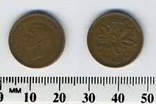 Canada 1944 - 1 Cent Bronze Coin - King George VI - WWII Mintage