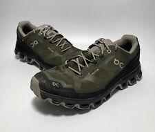 On Cloud Men 11.5 Waterproof Running Shoes Olive/Black Swiss Engineering Sneaker