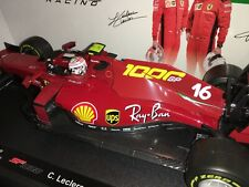 Bburago Ferrari Racing Formula 1 SF-1000 Charles Leclerc 2020  Echelle 1:18 Voiture Miniature - Rouge (16808TUL)