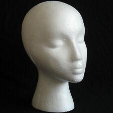 Styrofoam Foam Mannequin Female Head Models Dummy Wig Glasses Hat Display Stand
