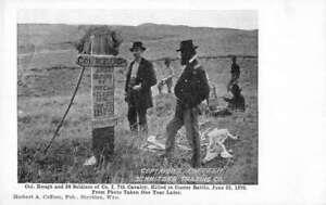 Sheridan Wyoming Custer Battle Marker Memorial Vintage Postcard JF686428