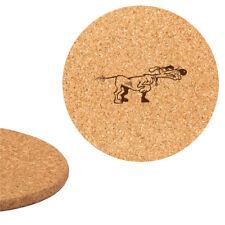 Dessous de plat en liège 18cm gravé Chien de chasse 2