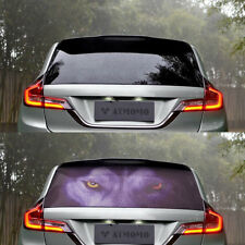 3D Transparent Auto Car Back Rear Window Decal Vinyl Sticker Horror Wolf 1Pcs