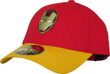 Iron Man Metal Badge Logo Baseball Cap