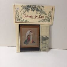 Guardian Angel Lavender & Lace Cross Stitch Chart Marilyn Leavitt-Imbum