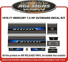 1976 1977  MERCURY 7.5 hp  Outboard decal set   reproductions  9.8 HP   75 110