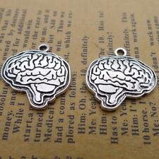 5pcs Charms Brain Shape Tibetan Silver Beads Pendant DIY 22*22mm