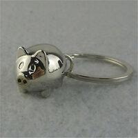 1Pcs Lovely Mini Pig Keychain Keyring Keyfob Cute Gift Ring Charm DecorationH iv