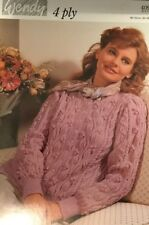 """WENDY 4 Ply knitting Pattern Ladies Cardigan  Size 32/40"""" Chest"""