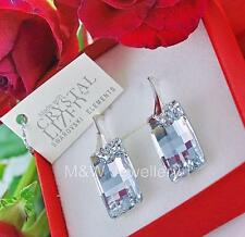 925 STERLING SILVER EARRINGS CRYSTALS FROM SWAROVSKI® URBAN CRYSTAL CAL 20mm