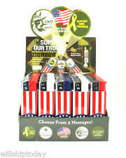 50 Patriotic Message Projection Support Our Troops USA Lighters Flashlight