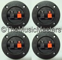 4 Screw In Terminal Cups for Car Home Audio Stereo Speaker Box Cabinet Enclosure