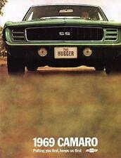 CAMARO 1969 Sales Brochure 69