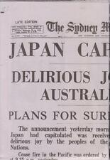 1945 Sydney Morning Herald END OF WWII Reprint Full Size Complete Newspaper
