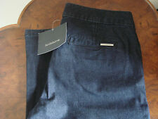 Brand New Women's Liz Claiborne Dark Blue Denim Wide-Leg Jeans House of Fraser 6