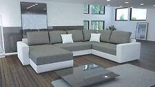 Couch Garnitur Ecksofa Sofagarnitur Sofa STY. 4 U Wohnlandschaft Schlaffunktion