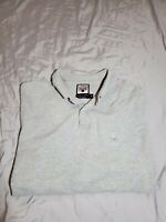 Faconnable Men's grey gray Polo Shirt Size Medium designed in france