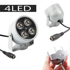 12V Night Vision IR Infrared Illuminator 4LED Light Lamp White for CCTV Camera