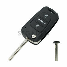 Replace Flip Key Shell fit for HYUNDAI Accent Remote Case Fob Uncut 3BTN SS150A