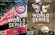 2016 WORLD SERIES PROGRAM SET OF 2 CHICAGO CUBS + DUELING TWO TEAM MLB VERSION