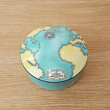 """Tauck World Discovery by Tiffany & Co 5"""" diameter Trinket box with Lid 2000"""