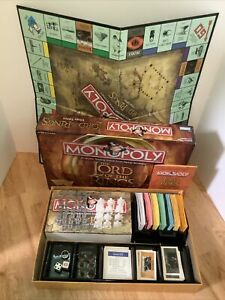 Monopoly Lord of the Rings Trilogy Edition Board Game - 100% Complete