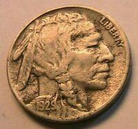 1929-S Buffalo Nickel Ch VF+ Very Fine Sharp Original Indian Head 5 Cent US Coin
