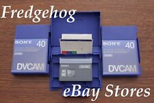 3 x SONY PDVM-40 PRO GRADE MINI DV / DVCAM DIGITAL CAMCORDER TAPES/ CASSETTES