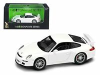 Porsche 911 997 GT3 White Signature Series 1/43 Diecast Model Car by Road Sig...