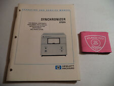 Hewlett Packard Hp 8709A Synchronizer Operating & Service Manual